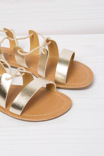 Sandals with elastic bands, Golden Yellow, hi-res