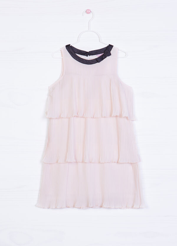 Dress with ruffles and bow | OVS