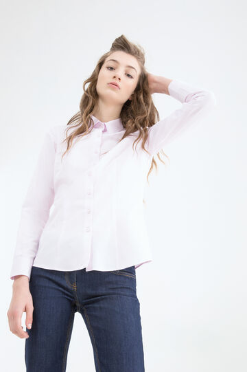Cotton blend shirt., Pink, hi-res