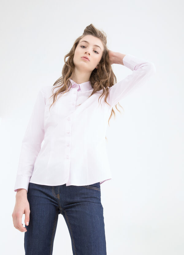Cotton blend shirt. | OVS
