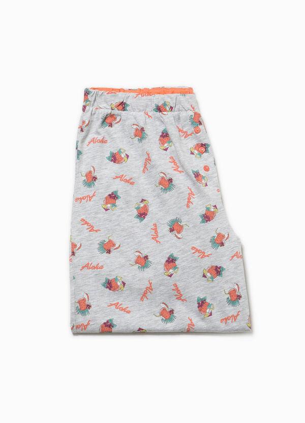 Pantalón de pijama de algodón con fantasía | OVS