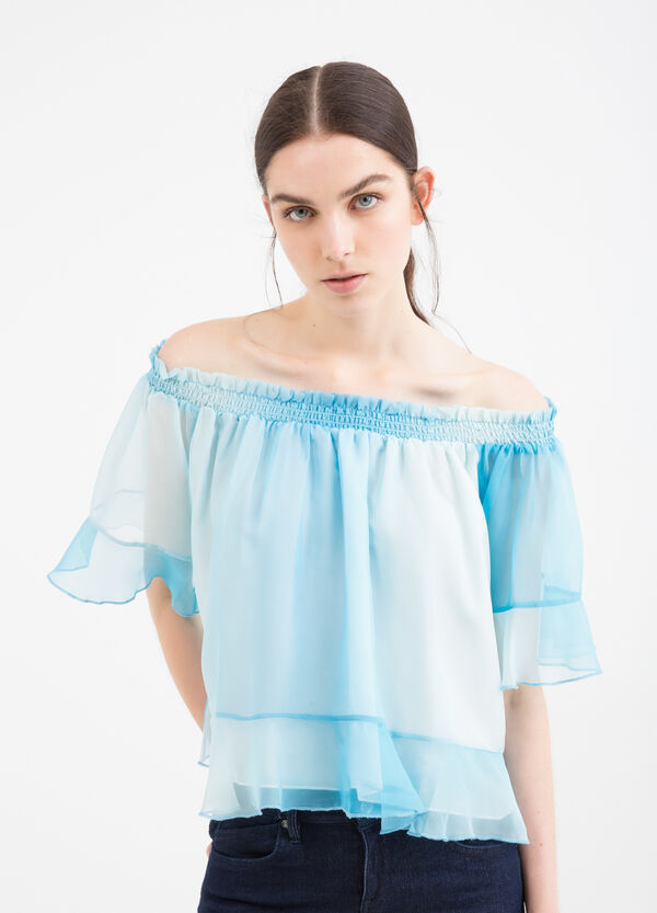 Blouse with flounces | OVS