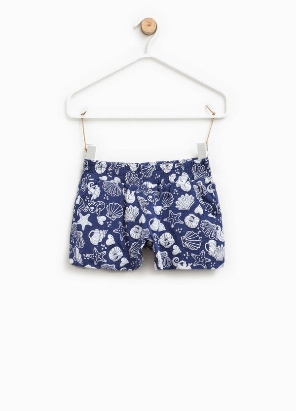 Shorts in cotone stretch fantasia | OVS
