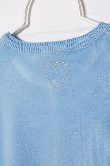 Coprispalle misto cotone, Azzurro, hi-res
