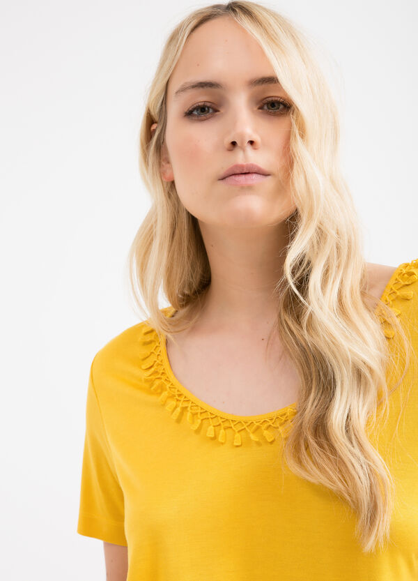 T-shirt misto viscosa Curvy | OVS