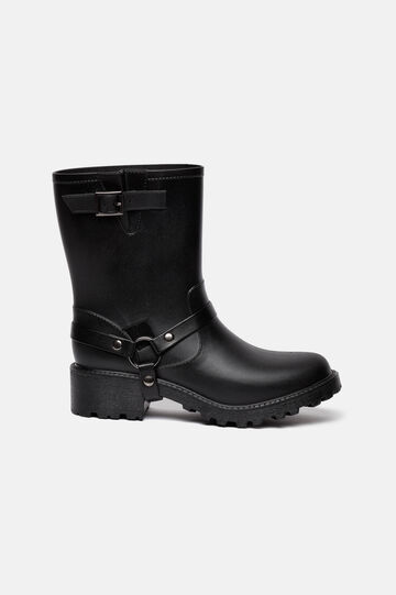 Boots with thick tread sole, Black, hi-res