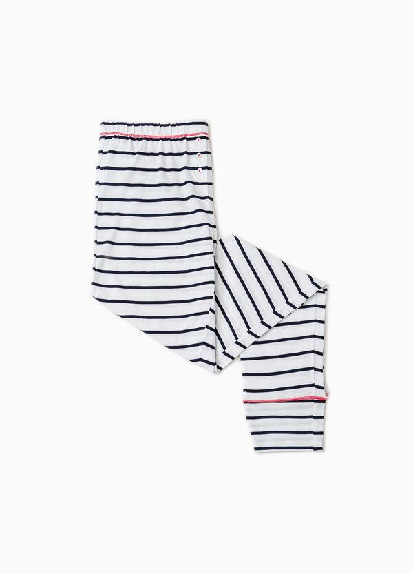 Striped cotton pyjama trousers | OVS