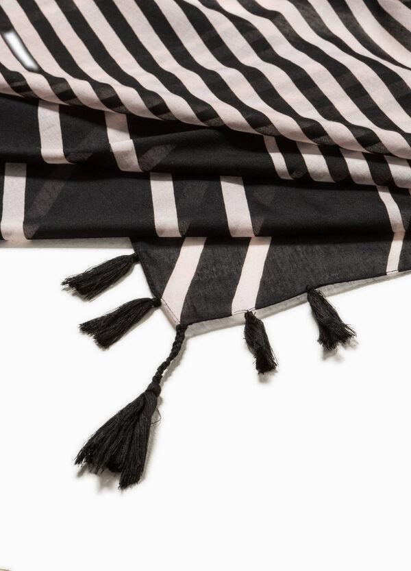 Bufanda de rayas con borlas | OVS