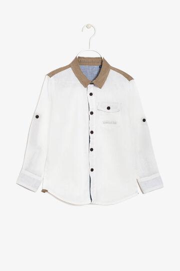 Camicia a maniche lunghe, Bianco, hi-res