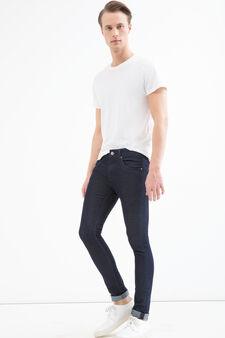 Jeans super skinny fit con risvolti, Denim, hi-res
