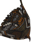 Triangular top with pattern, Brown, hi-res