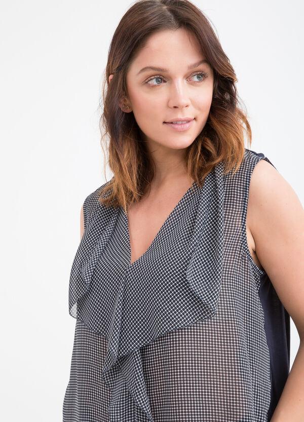 Curvy printed blouse in viscose blend | OVS