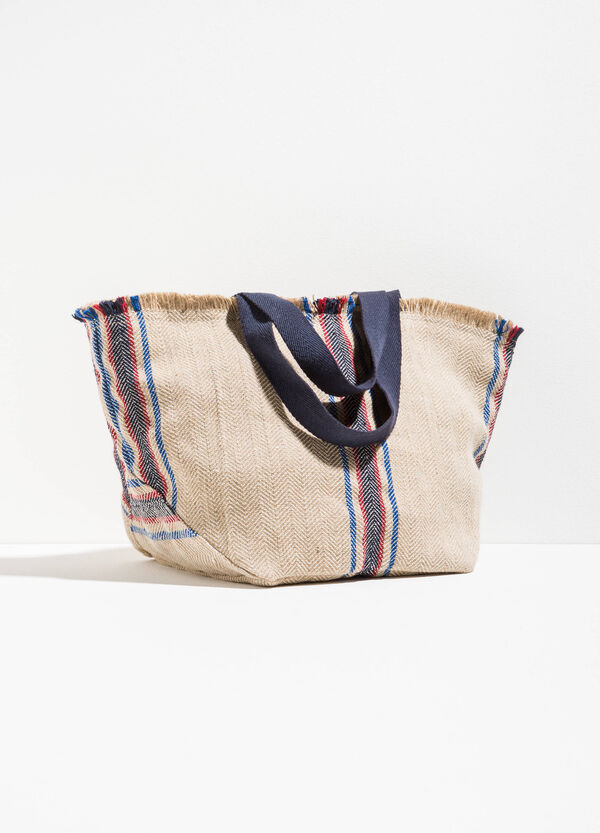 Beach bag with striped jute | OVS