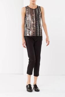 Cotton trousers, Black, hi-res