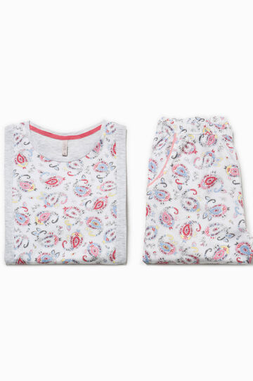 Paisley pattern cotton pyjamas