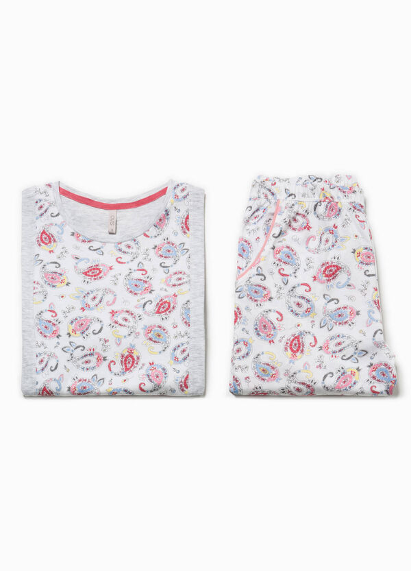 Paisley pattern cotton pyjamas | OVS
