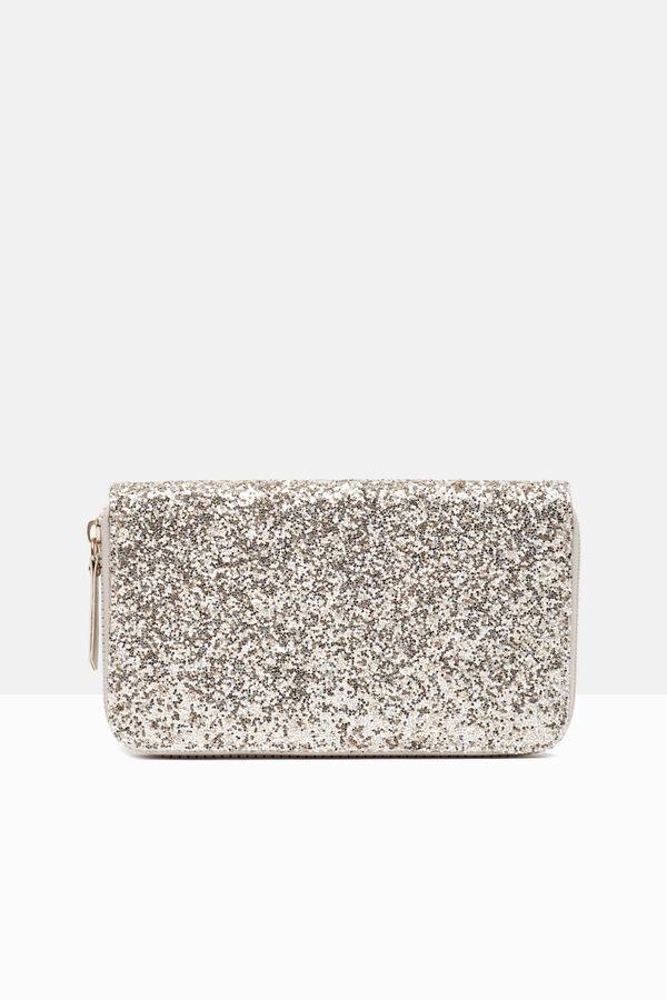 Leather look glitter wallet | OVS