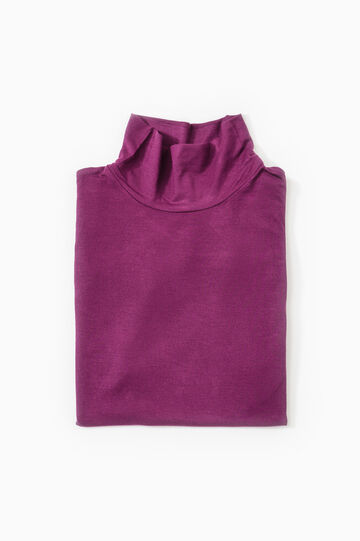 Viscose undervest with high neck, Red, hi-res