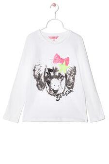 Long-sleeved, printed T-shirt, White, hi-res