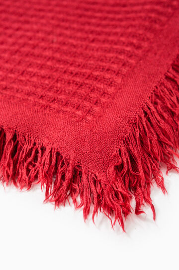 Solid colour knitted scarf, Red, hi-res