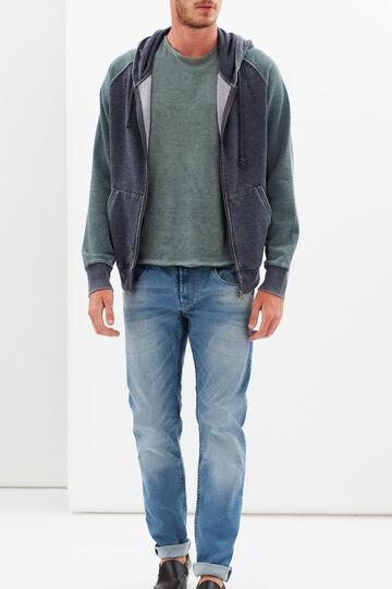 G&H sweatshirt with print on back, Navy Blue, hi-res