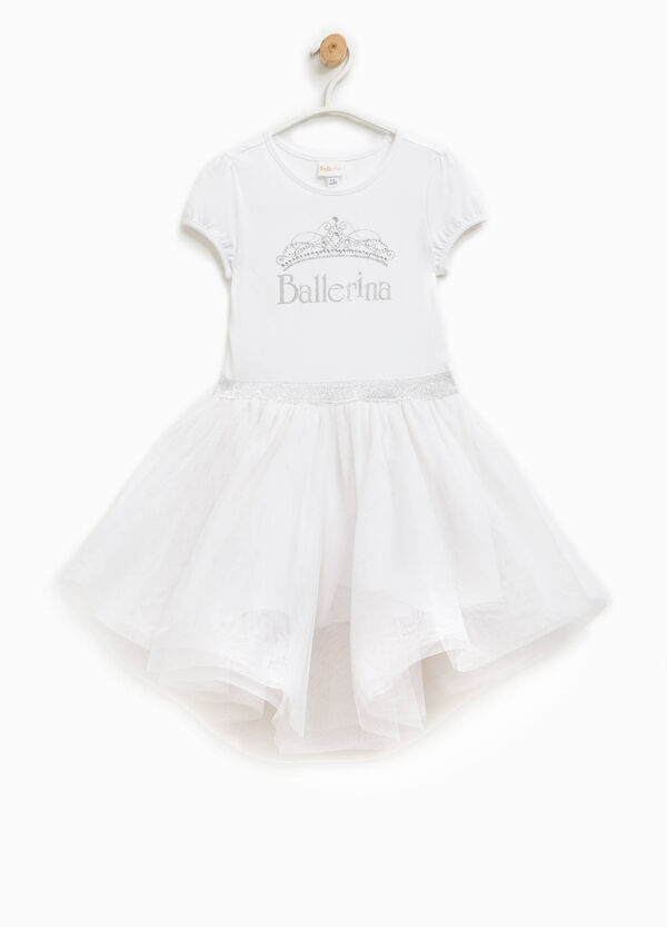 Dress in tulle with Ballerina print | OVS