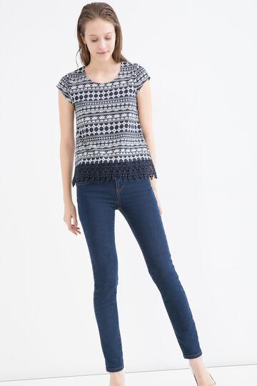 T-shirt cotone modal fantasia, Blu navy, hi-res
