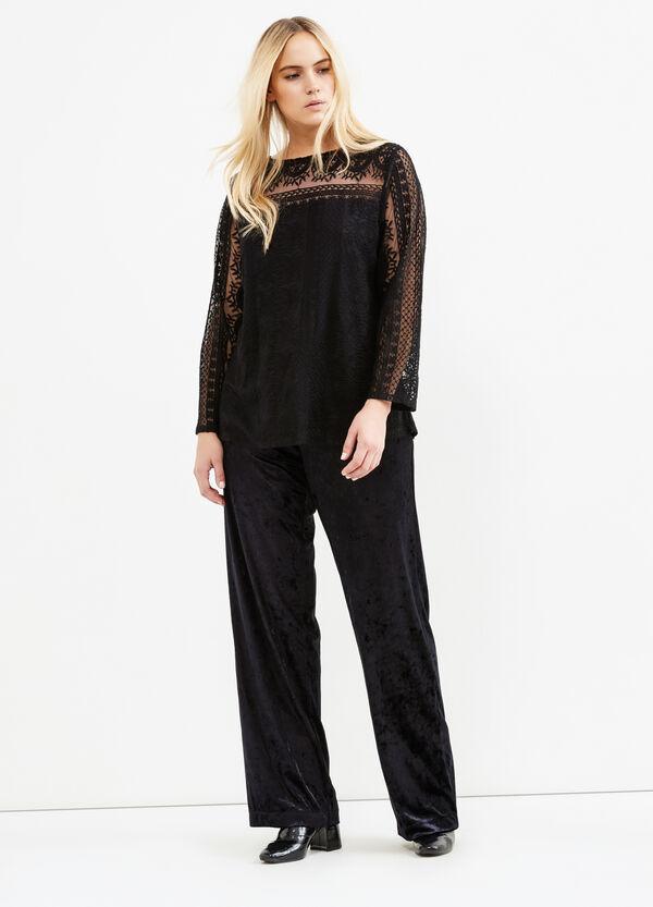 Curvy velvet trousers | OVS