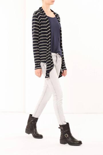 Striped cardigan, Navy Blue, hi-res