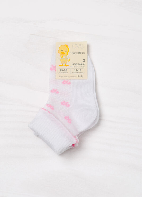 Two-pair pack stretch socks with turn-down | OVS