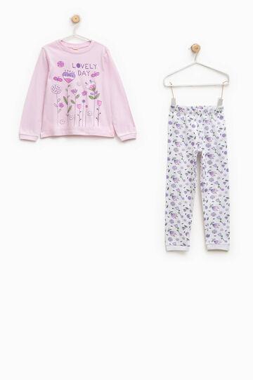 100% Biocotton pyjamas, White/Pink, hi-res