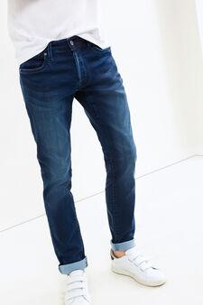 Jeans slim fit stretch effetto delavato, Lavaggio medio, hi-res