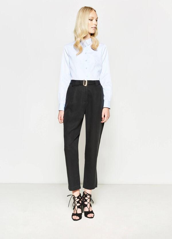Pantalón tobillero de talle alto con cinturón | OVS