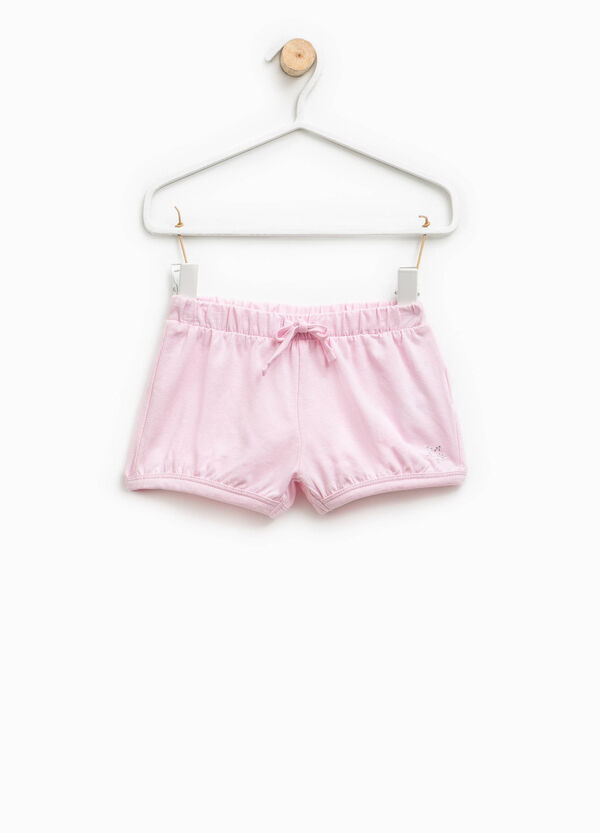 Shorts in cotton with star diamantés | OVS