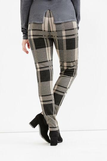 Pantaloni stretch tartan Curvy, Nero/Grigio, hi-res