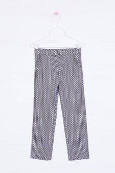Viscose loose-fit trousers in viscose, Dark Grey, hi-res