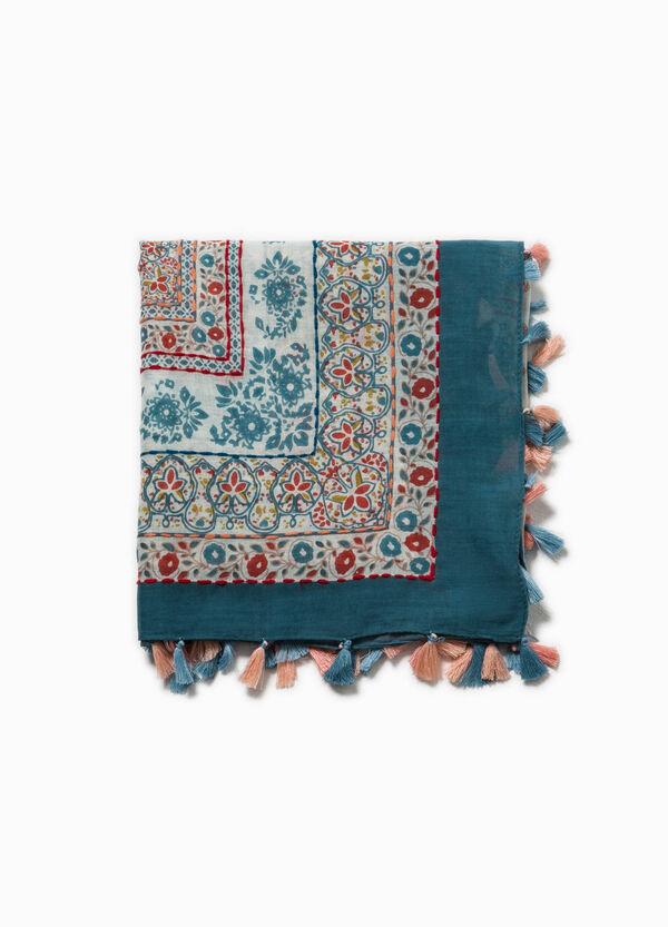 Sciarpa stampata con nappine | OVS