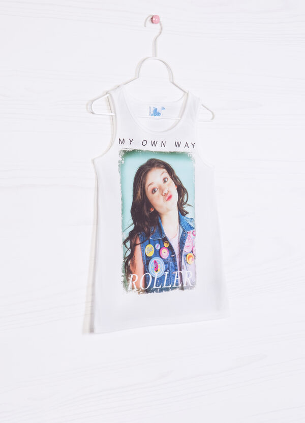 T-shirt in stretch cotton with Soy Luna print | OVS