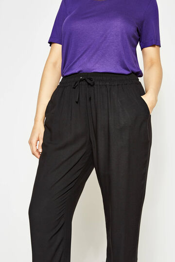 Curvy trousers with drawstring