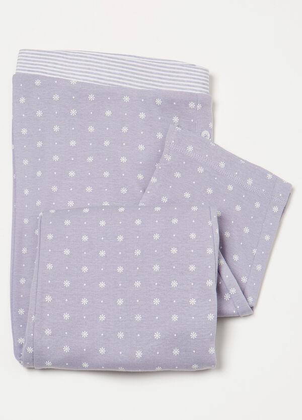 Cotton patterned pyjama trousers | OVS