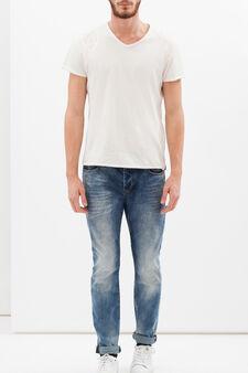 Jeans effetto usurato, Lavaggio scuro, hi-res