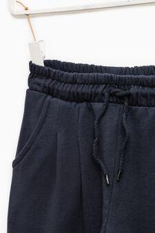100% cotton joggers, Dark Blue, hi-res