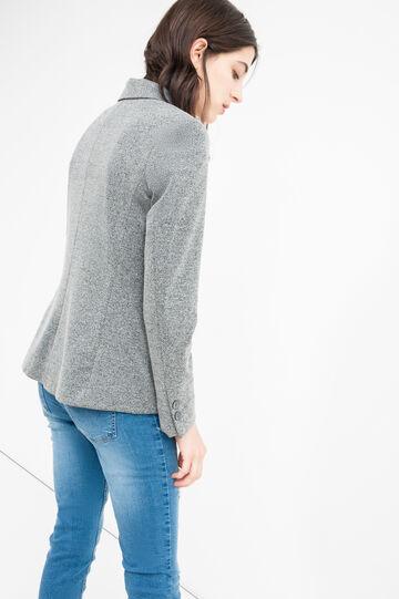 Elegant stretch jacket in viscose, Dark Grey, hi-res