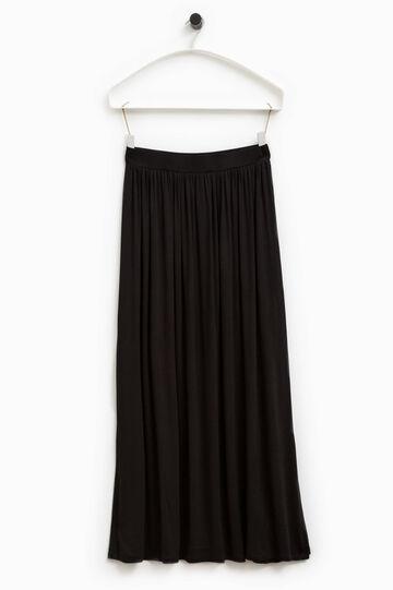 Smart Basic long viscose skirt, Black, hi-res