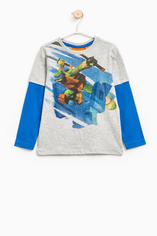 Teenage Mutant Ninja Turtle printed T-shirt, Grey/Blue, hi-res