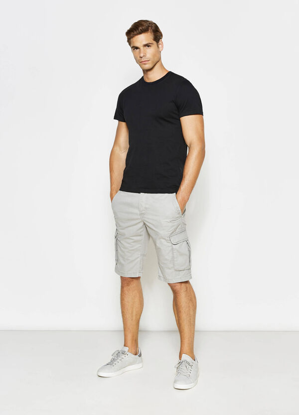 Regular-fit cotton chino Bermuda shorts | OVS