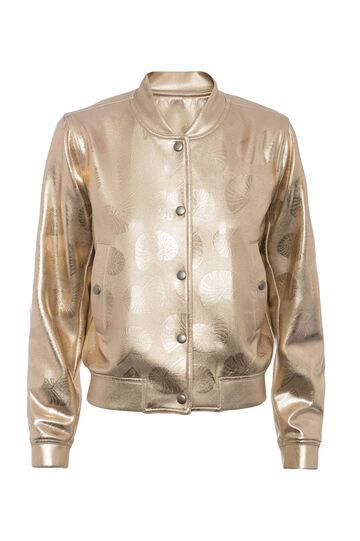 OVS Arts of Italy gold-coated bomber jacket