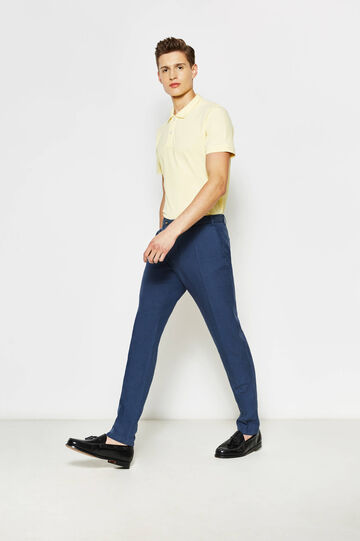 Solid colour 100% cotton polo shirt