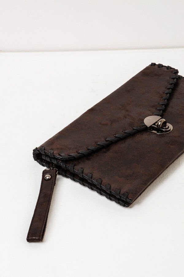 Solid colour clutch bag with wrist strap | OVS