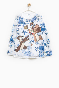 Crew neck T-shirt with Chip 'n' Dale print, White, hi-res
